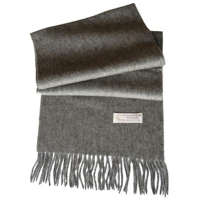 53ed92c62770 Écharpe laine et cachemire homme femme GRIS GRIS - Achat   Vente ...