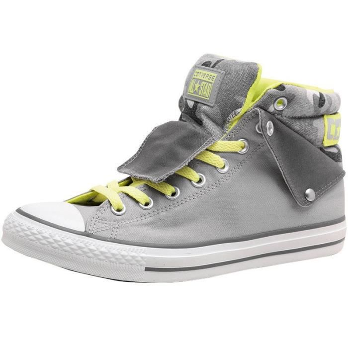 CONVERSE ALL STAR LIMITED PADDED COLAR ELECTRIC JAUNE & GRIS CAMO CAMOUFLAGE