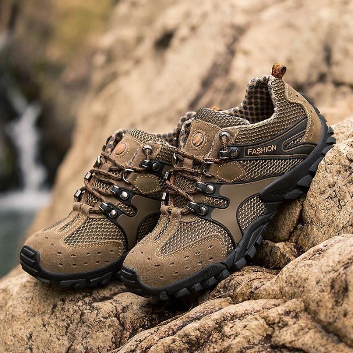maille hommes chaussures de plein air mode automne antidérapante style britannique de mocassin b62M6
