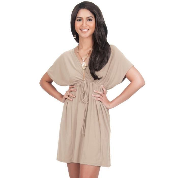 Craze vendange une ligne ajustement coton à manches longues col rond dentelle florale et robe flare JWAQ2 Taille-32