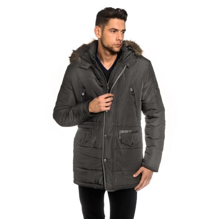 8361b6699b6 PARKA Manteau d hiver avec col stand-up des hommes