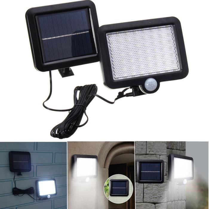 56 LED Applique Solaire Mur Lumi¨re éclairage Détecteur Mouvement