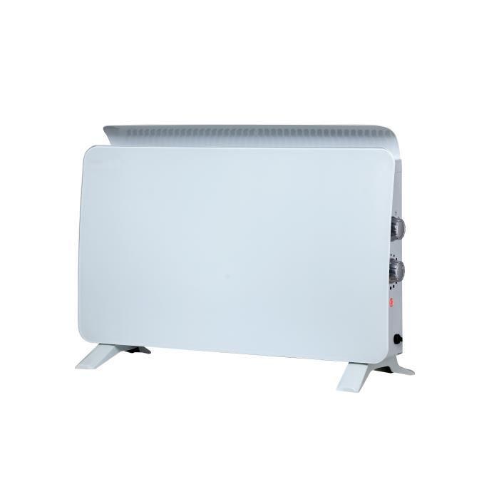 AÉRATION ZAFIR H1500 BW un convecteur design blanc en verre