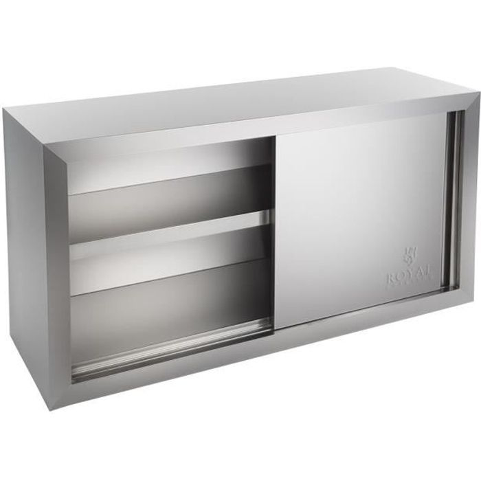 Armoire Murale 2 Portes Coulissantes Royal Catering Inox 1 Etagere