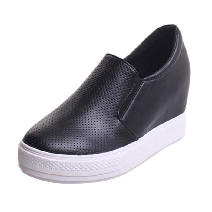 Mocassin Chaussures Casual Femmes Cuir Couleur Pure Mode Automne Plate-Forme Nouvel HEE GRAND DU8DnxED