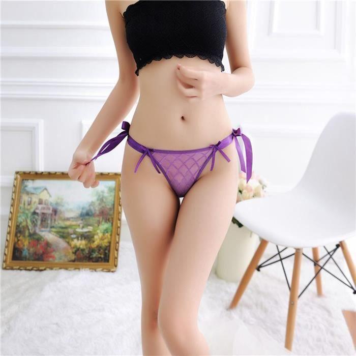 Slip Dentelle Les En vêtements string G Culotte Thongs Femmes Sexy Lingerie Violet Sous xSqHpI