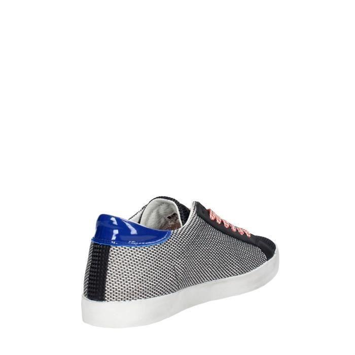 D.a.t.e. Sneakers Homme Blanc/Noir, 45