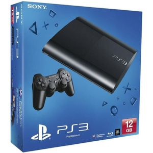 CONSOLE PS3 PS3 12 Go Ultra Slim+Manette DualShock 3