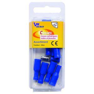 VOLTMAN Pack de 12 cosses cylindriques - 5 mm