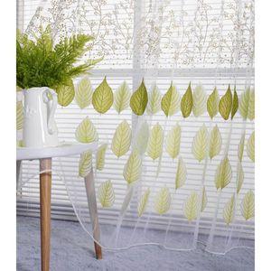 RIDEAU yumyumis® Mode fenêtre feuille rideaux couleur uni