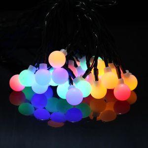 GUIRLANDE D'EXTÉRIEUR Guirlande Solaire lumineuse 6,5M 30 LED Boules RGB