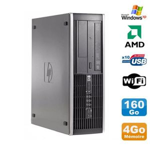 UNITÉ CENTRALE  PC HP Compaq 6005 Pro SFF AMD 3GHz 4Go DDR3 160Go