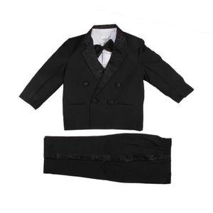 COSTUME - TAILLEUR Costume 5 pièces cérémonie - garçon - noir