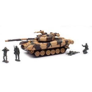 VOITURE - CAMION NEWRAY 01856 Tank Militaire T80 et Soldats Miniatu