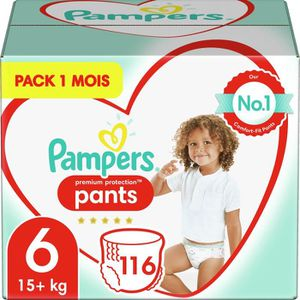 COUCHE PAMPERS Premium Protection Pants T6 X116 Pack 1 Mo