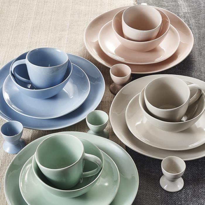 service de table complet multicolore achat vente pas. Black Bedroom Furniture Sets. Home Design Ideas