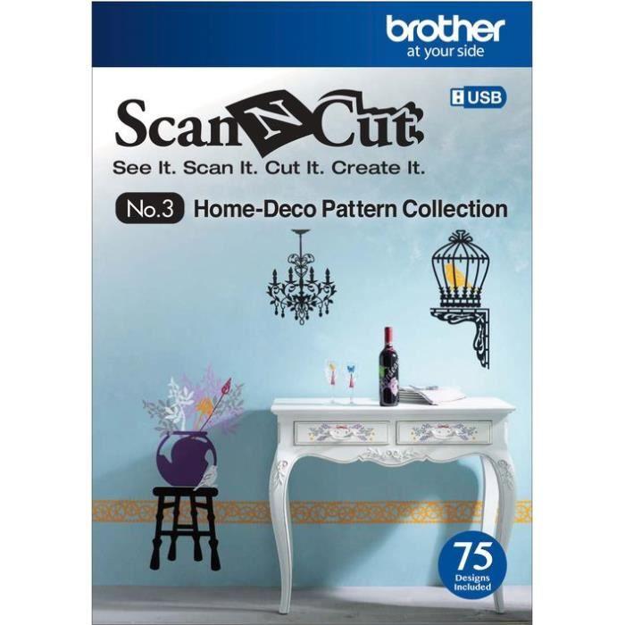 TRANSFERT - SERIGRAPHIE Collection de 75 motifs Scan N Cut USB Décoration