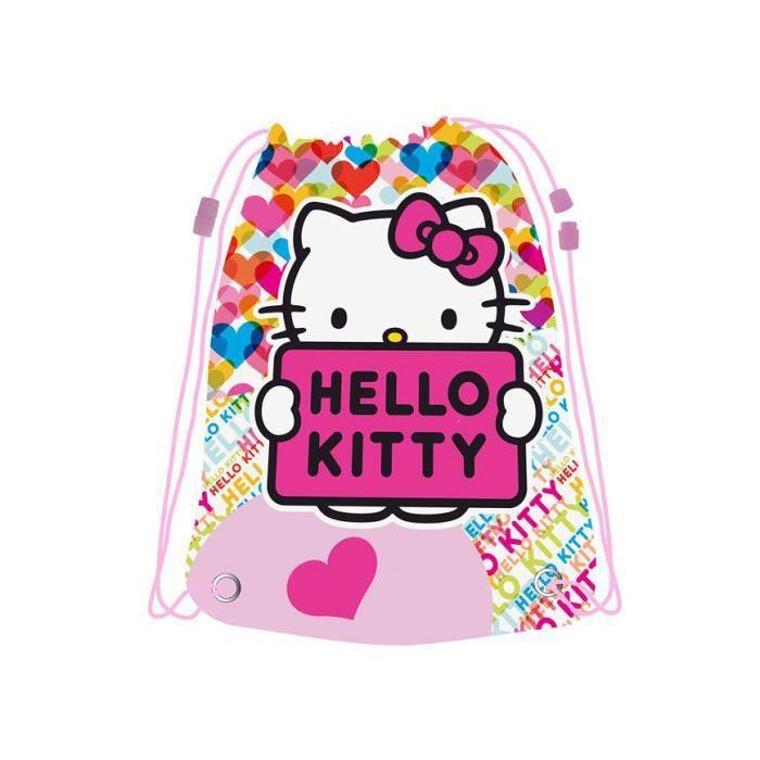 c7fd6bf2ad HELLO KITTY - Grand sac piscine Kitty rose Coeurs Rose - Achat ...