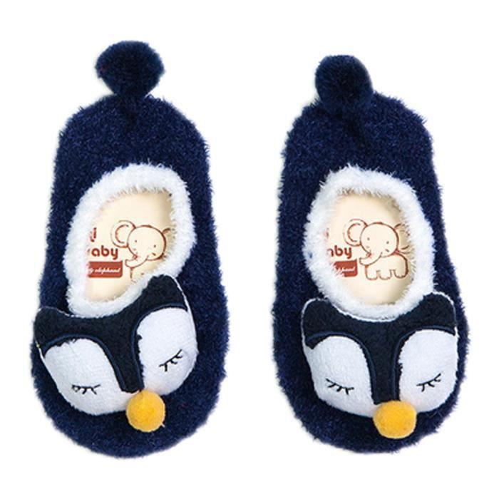 898c221452d9c Chausson Antidérapant Bébé Enfant Chaussette Animaux Coton Chaussettes  Hiver Chaudes
