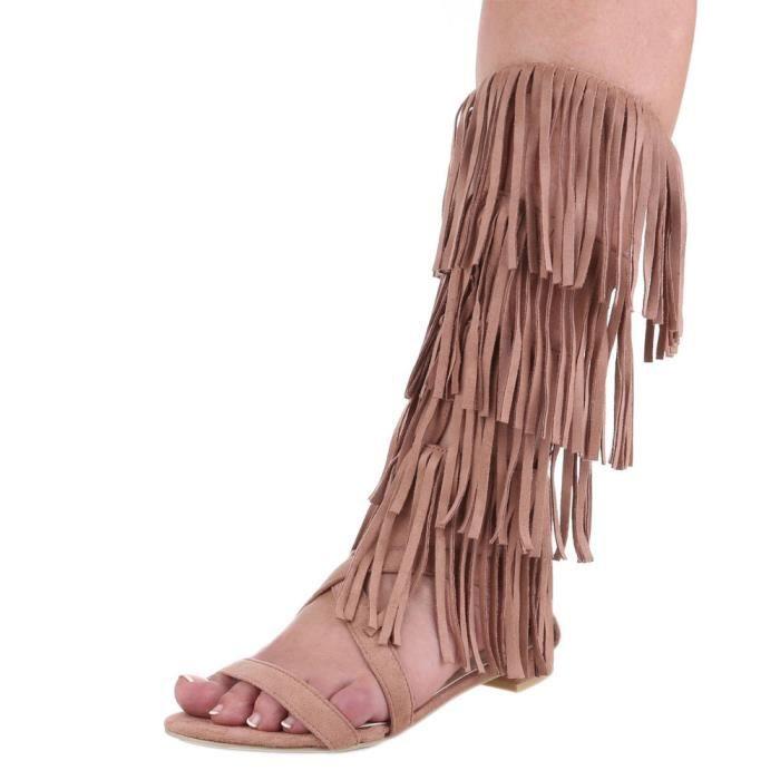 Femme sandale chaussure de Dianette Western Style effilé lanière vieux