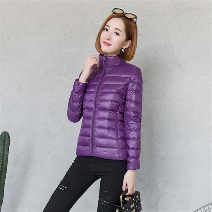 S Les Hiver noir violet De Léger Manches marron Poids Plus Supérieure Chaud Doudoune À 4xl Couleur Vêtement Bleu Femme roux Longues Qualité wHR00Z