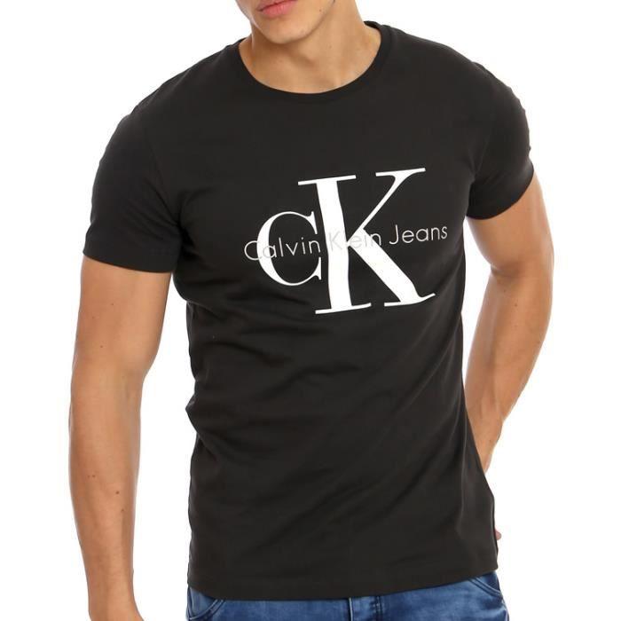 T-SHIRT Tee Shirt Calvin Klein Homme Noir