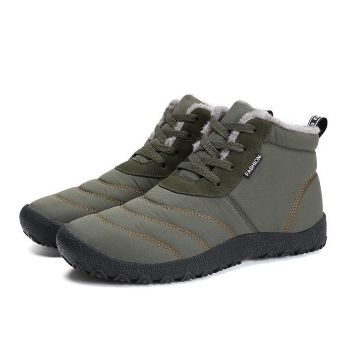 Sport Bottes 7360 De Hommes Casual D'hiver En Air Neige Isolé Plein bottes Chaussures Femme Imperméable 2WIED9H