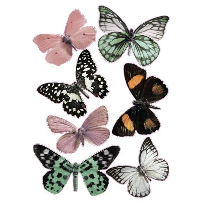 Stickers papillon 3d achat vente pas cher for Miroir mural 2m
