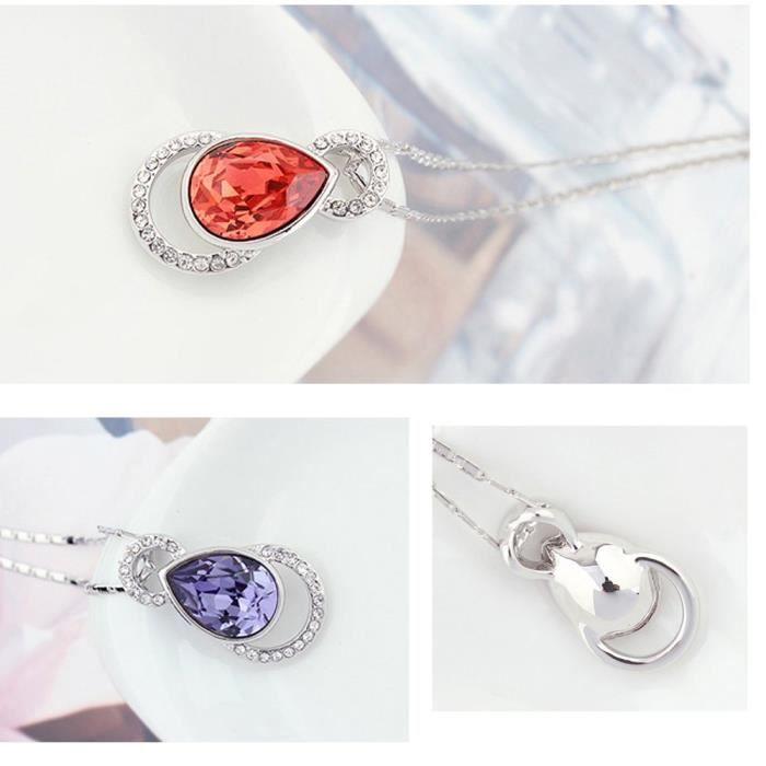 Cristaux Swarovski et Preciosa Strass Collier diamant pendentif de femmes. Tous les jours - Tenues de soirée Fashio B6L8V