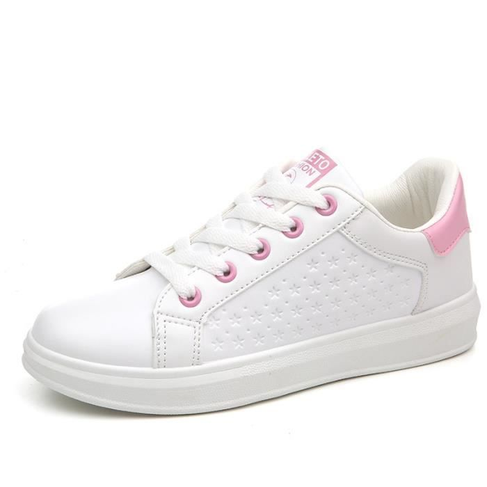 Femmes chaussures Chaussures planche chaussures petites chaussures blanches sangle chaussures étudiants Sneakers Casual Shoes pure