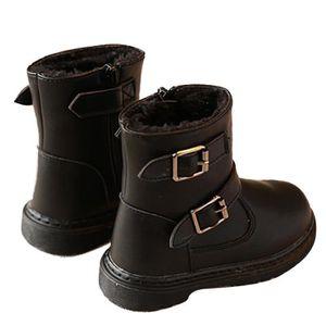 D'hiver Bottes Cuir Enfants Nouveaux Mode Bottines Fille BLKG-XZ104Blanc24 jD9AA3vC