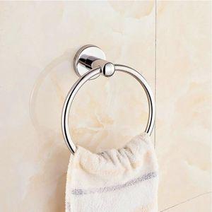 Accessoire de salle de mur monté poli Porte-serviettes anneau en acier  inoxydable Serviette 44