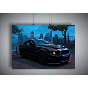 075fe75a820 AFFICHE - POSTER Poster Ford Mustang Shelby GT 500 Wall Art - A4 (2