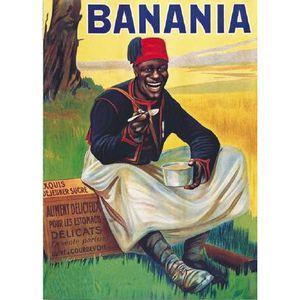 affiche banania achat vente affiche banania pas cher soldes d s le 10 janvier cdiscount. Black Bedroom Furniture Sets. Home Design Ideas