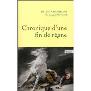 LITTÉRATURE FRANCAISE Livre - chronique d'une fin de règne
