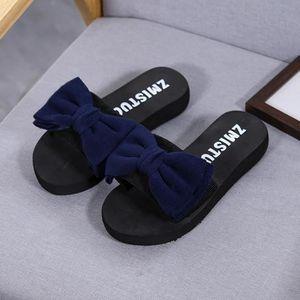 a44418fe97277 Femmes Bow Sandales d été pantoufle Indoor Tongs Outdoor Chaussures ...
