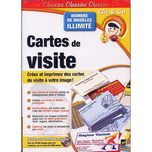 JEU PC CARTES DE VISITE Logiciel