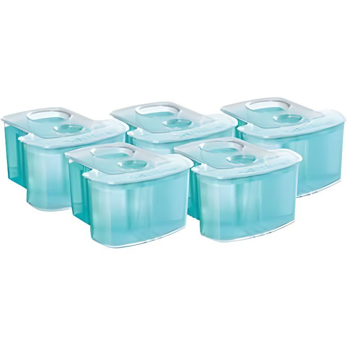 PHILIPS JC305/50 - Lot de 5 accessoires rasoir - Solution de nettoyage SmartClean