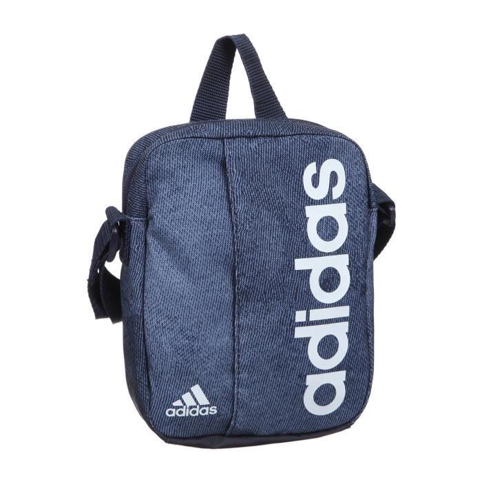 e78c41e952 ADIDAS Sac de Sport Lin Per Org - Bleu et blanc - Achat / Vente sac ...