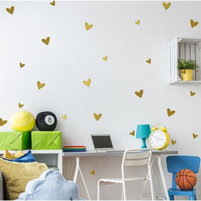 Autocollant Mural Wallsticker Wallpaper Decor Papier Peint Mur Décoration  Simple Bricolage Et Créatif Multi Taille Amovible Amour