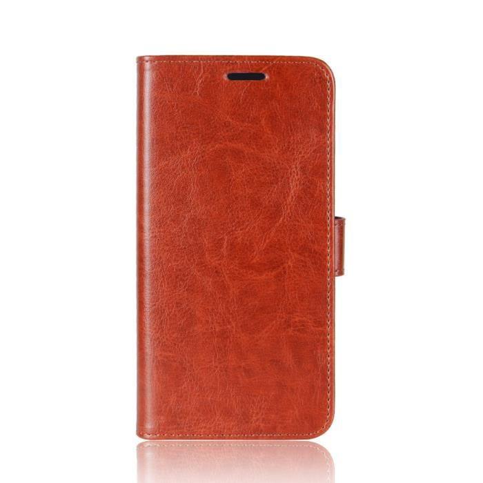 Huawei Y9 2018 Case Couleur Pure Couverture Arrière Béquille Carte De Stockage Anti-shake Scratch Résistant Téléphone portable Cas