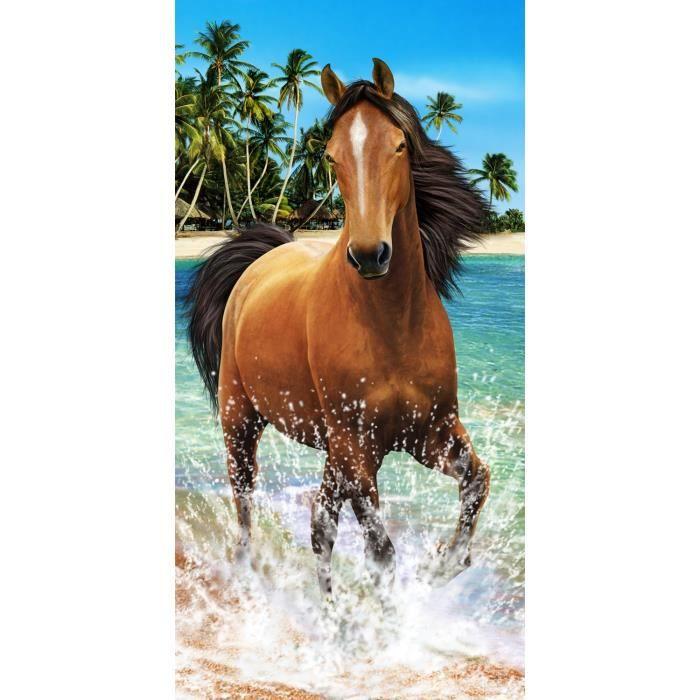 drap avec des chevaux achat vente pas cher. Black Bedroom Furniture Sets. Home Design Ideas