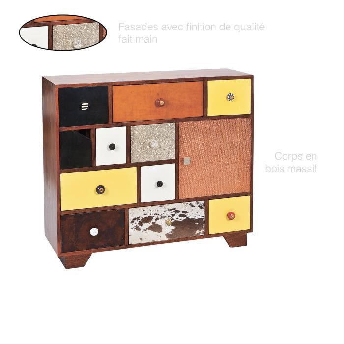 Commode Vintage, Commode bois massif, Commode 12 tiroirs, Commode ...