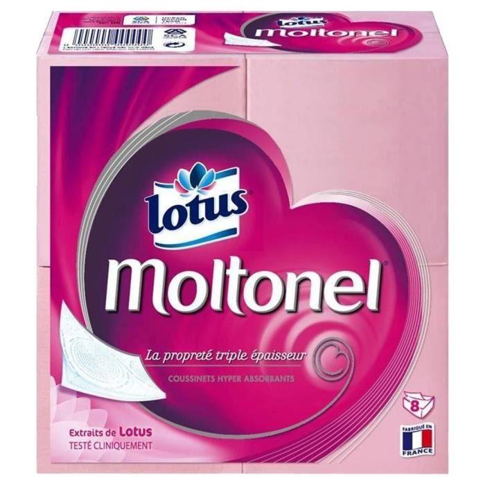PAPIER TOILETTE Lotus Moltonel Plat Triple Epaisseur 8 Paquets (lo