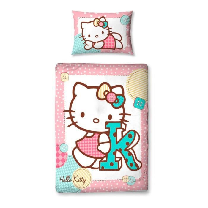 Parure de lit junior stitch hello kitty achat vente - Hello kitty housse de couette ...