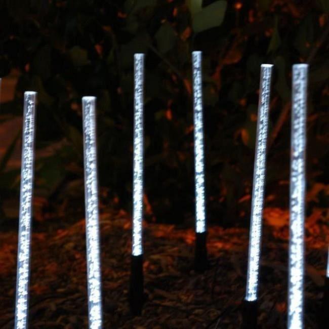 8 batons lumineux solaire eclairage exterieur jardin achat vente 8 batons lumineux solaire e. Black Bedroom Furniture Sets. Home Design Ideas