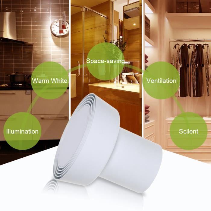 Lumière De Salle De Bain LED Lampe De Plafond Blanc Chaud 310LM Ventilateur  Multifonctionnel 2 En 1 Vent Du0027air Du0027échappement