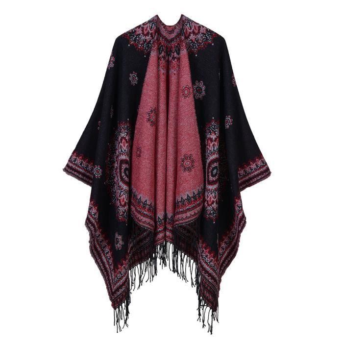 MARGUERAS® 1PCS Femme Poncho Manteau veste Cape manteau écharpe Poncho 0ec29cc1e4b