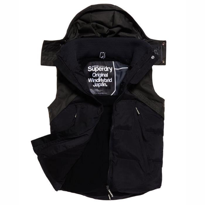 dernière vente large choix de couleurs et de dessins variété de dessins et de couleurs Vêtements homme Vestes Superdry Wind Hybrid Gilet Noir ...
