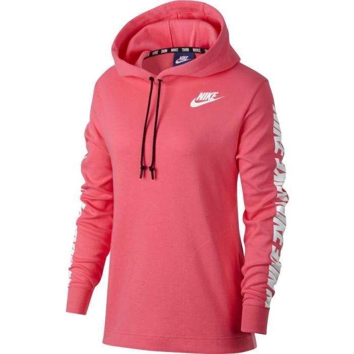code promo aeb9f 5d941 Sweat NIKE Femmes Nike Sportswear A Rose - Achat / Vente ...
